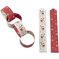 Neviti Rocking Rudolf-Paper Chains-50 Pack, Wood, Multi-Colour, 3 x 0.1 x 21 cm