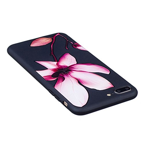 Trumpshop Smartphone Case Coque Housse Etui de Protection pour Apple iPhone 7 Plus 5.5 Pouces + Fleur de lys + Ciselure Ultra Mince Silicone TPU Gel avec Absorption de Choc Fleur de lys