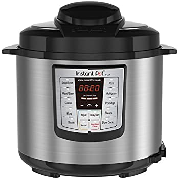 Instant Pot Lux 60 V3 6-in-1 Programmable Electric Pressure Cooker with Stainless Steel Cooking Pot, 6 Quart