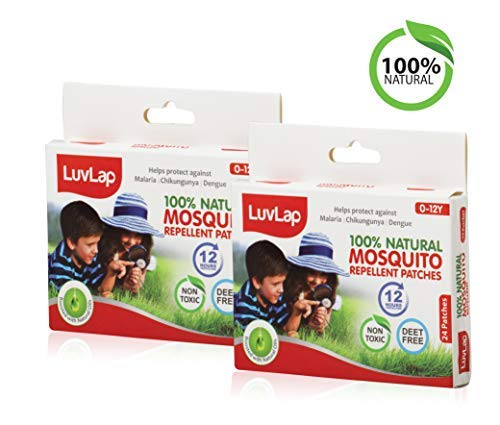 Luvlap Natural Mosquito Repellent Patch, 24 Pieces (Pack of 2)