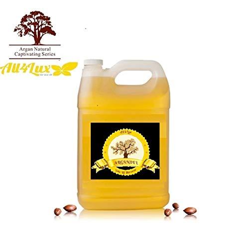 All4Lux Huile d'Argan/Huile D'Argan 100% BIO & Artisanale du Maroc, Pressée à Froid et certifié par Vegan society & BAV Institute for Hygiene and Quality Assurance, Huile d'haute qualité (5 Litres)