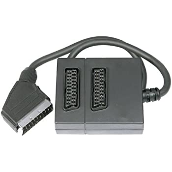 Twin Scart Adapter 2 Way Scart Lead Cable Splitter Amazoncouk