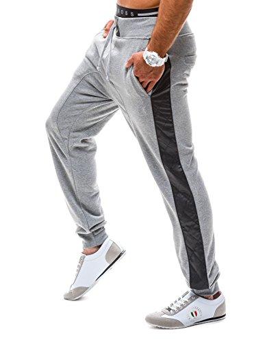 BOLF – Pantaloni sportivi – Jogging pantaloni – BBG 8012 – Uomo Grigio