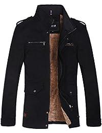Zicac-MODELE02 Manteau homme zippé en coton manches longues doublure en laine pour l`hiver