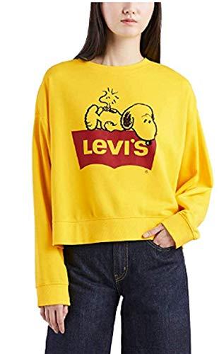 Levi´s ® Damen Pullover Sweatshirt Graphic Crew Peanuts Yellow XS