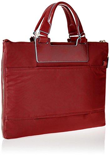 Piquadro Ca4021ce, Borsa a Mano Unisex Adulto, 4x30x43 cm (W x H x L) Rosso