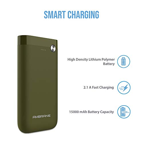 Ambrane PP-150 15000mAH Lithium Polymer Power Bank (Olive Inexperienced) Image 2