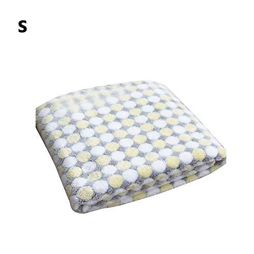 Wovemster Premium Selbstheizende Decke für Katzen & Hunde,Innovative & Umweltfreundliche Wärmematte,S (Beige Punkte)