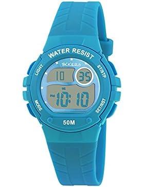 Tikkers Kinder Digitaluhr TK0081 mit Silikonarmband, Blau