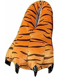 QIYUN.Z Adulto Suave Terciopelo Garra Animal De La Pata De Otono / Invierno Unisex Espesar Calido Zapato Zapatilla