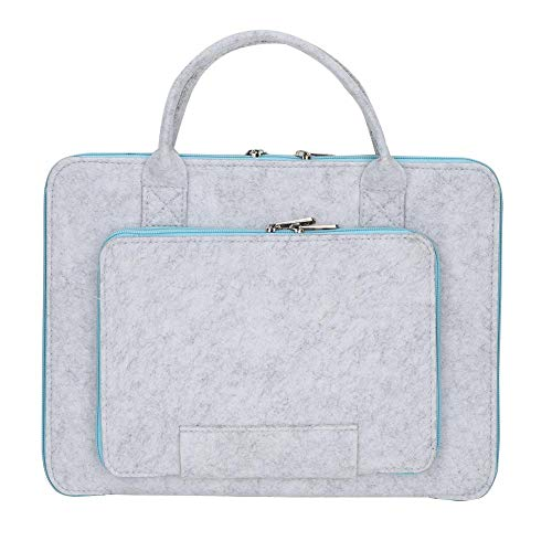 Atyhao Laptop-Filz & Ledertasche Tasche Notebook Tasche mit Griff und Tasche Computer Case Datei Ordner Datei Tasche Dokument Organizer(11