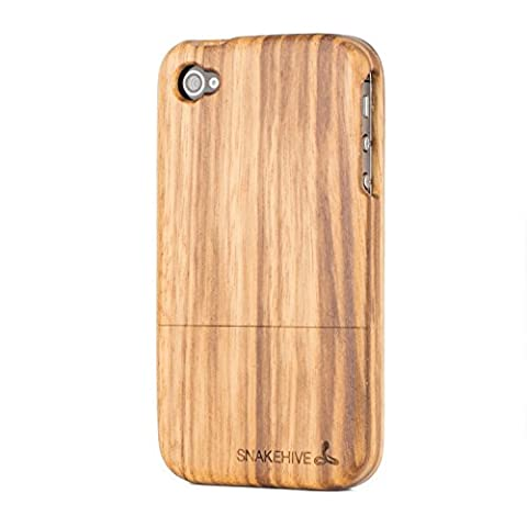 Snakehive® Apple iPhone 4/4S Solid Wood Case Cover for Apple