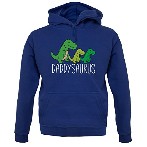 Daddy Hoodie (Daddy Saurus - Unisex Hoodie/Kapuzenpullover - Navy - L)
