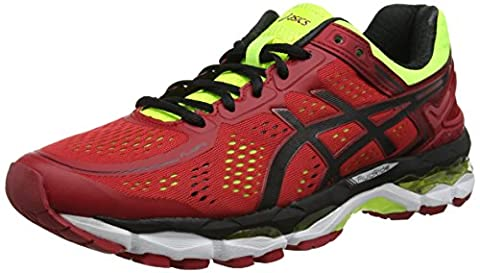 Asics Gel-kayano 22, Chaussures de Running Entrainement homme, Rouge (Red Pepper/Black/Flash Yellow), 41.5 EU