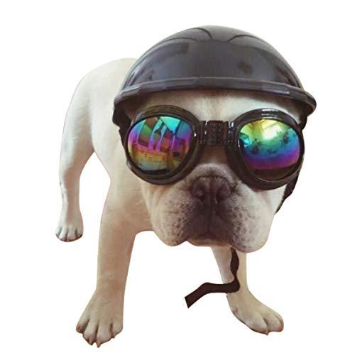 XingYue Direct 4'Cool Pet Dog Cats Reticoli Cappellino Morbido Imbottito Cappello di Sicurezza Puppy Protezione Solare da Pioggia per Tutti i Piccoli Animali Domestici (Color : Black, Weight : 60g)