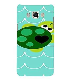 PrintVisa Cute Turtle Design 3D Hard Polycarbonate Designer Back Case Cover for SAMSUNG GALAXY J5 2016 Edition
