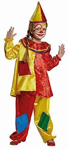 Kinder Kostüm Clown Clownin Clownkostüm Karneval Fasching Gr.92