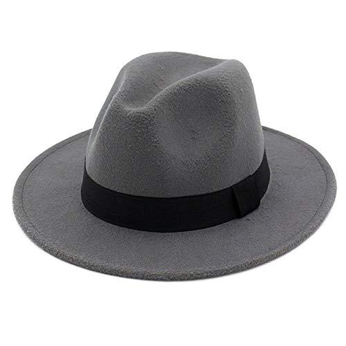 217430be2 OLIS,Cappello Fedora Feltro Borsalino Plain Jazz Trilby Cappelli Per Uomo  Donna,8-