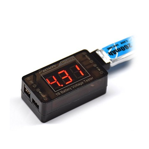 BETAFPV LiPo Battery Voltage Checker 1S for Unsubstantial Hoot Lady's man Inductrix Quadcopter Drone