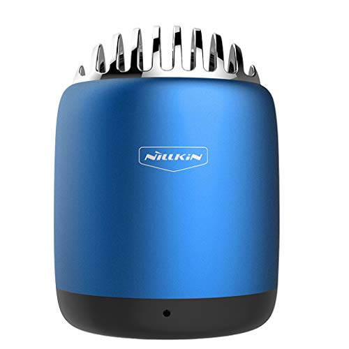 Mini Pequeños Altavoces Portátiles Inalámbricos Bluetooth, Webla, Micrófono Incorporado Für Iphone Ipad, Metal Azul (Bu)