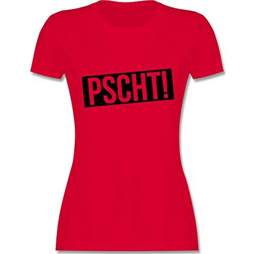 Lehrer - Pscht! - Leise - tailliertes Premium T-Shirt mit Rundhalsausschnitt für Damen Rot