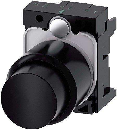 Preisvergleich Produktbild Siemens SIRIUS – Taster Kompakt Rund Kunststoff Schwarz Taste scheidenden momentaneo