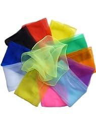 Hoerev 12 foulards à jongler jeu de jonglerie(danse).40cmx40cm