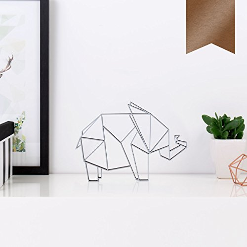 s aus Holz - Wähle Ein Motiv & Farbe - Elefant - 10 x 7,1 cm (S) - Kupfer ()