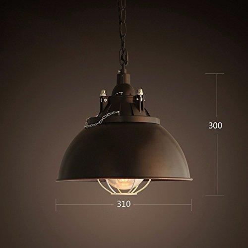LighSCH Kronleuchter Pendellampe Restaurant Bar Lampe Topf einfache Eisen Kunst Schwarz 31 * 30Cm -
