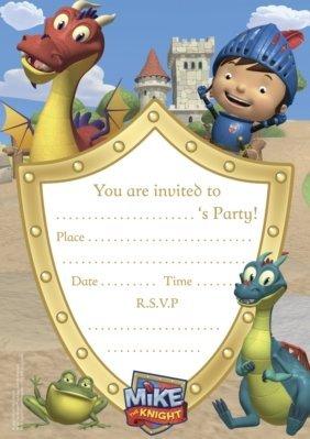 Mike The Knight Einladungen und Umschläge (Packung mit 20) (Boy Motto-partys)