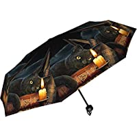 Nemesis Now Witching Hour Lisa Parker Umbrella 24cm Black, Plastic, Metal, 190T Pongee, One Size