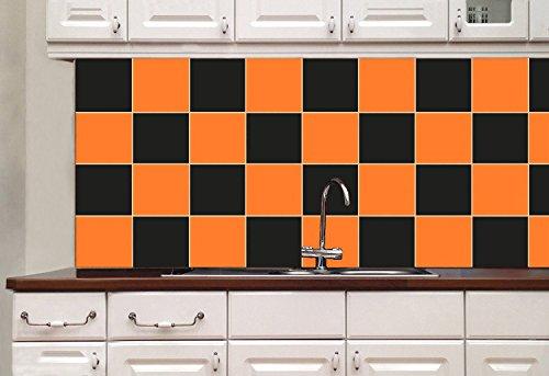 Lorcoo adesivi per piastrelle quadrati per bagno o cucina
