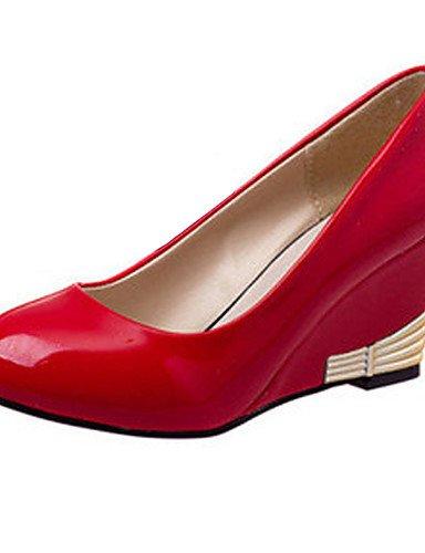 GGX/ scarpe da donna semplice brevetto ol comodità cuoio zeppa