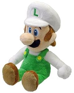"Nintendo Oficial Super Mario Fire Luigi Plush, 8"""