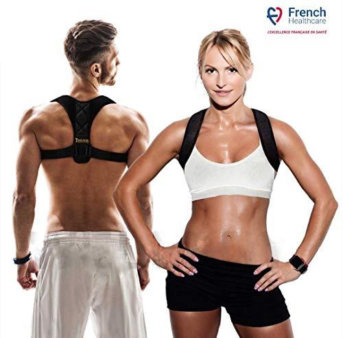 Takana Health & Care Geradehalter zur Rücken Haltungskorrektur - Unterstützender Schultergurt zum Training einer gesunden Haltung - bei Schmerzen in Rücken Nacken Schultern