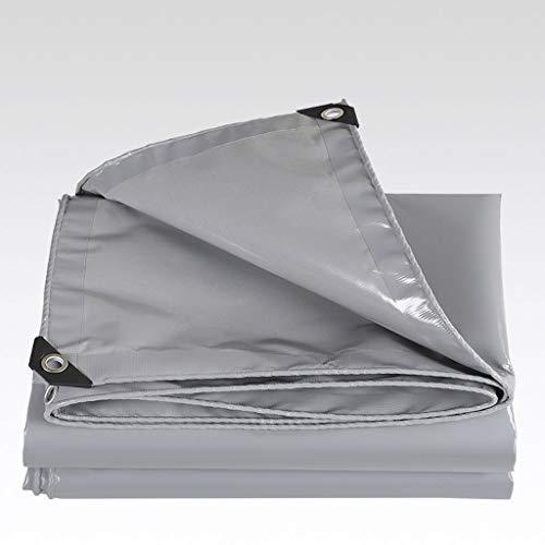 RY Plane/Verdickung im Freien Plane/Pflanze Sonnenschutzabdeckung/Schattierung Poncho/Pushing Shed Tuch Regenabdeckung Canvas Plane/grau (Size : 7x9m)
