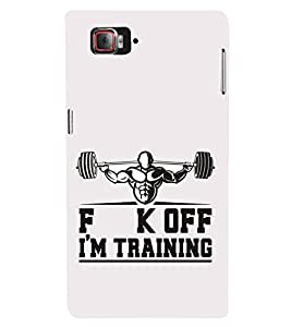 Fiobs Designer Phone Back Case Cover Lenovo Vibe Z2 Pro :: Lenovo K920 :: Lenovo Vibe Z2 Pro K920 ( F K Off Am Training Working Out Biceps and Triceps )