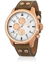 a5982d594ca0 Burgmeister Reloj Hombre de Analogico con Correa en Cuero BM227-315
