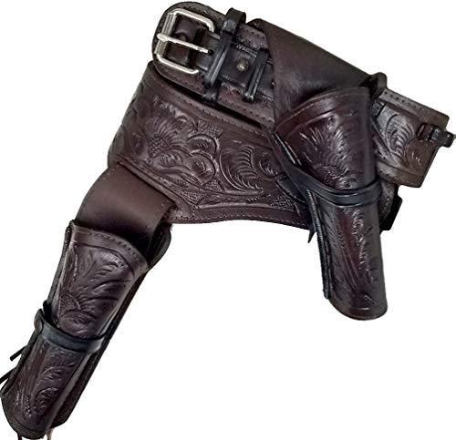 Modestone 44/45 Western Right Cross Draw Double Pistolengürtel Leather 34 -