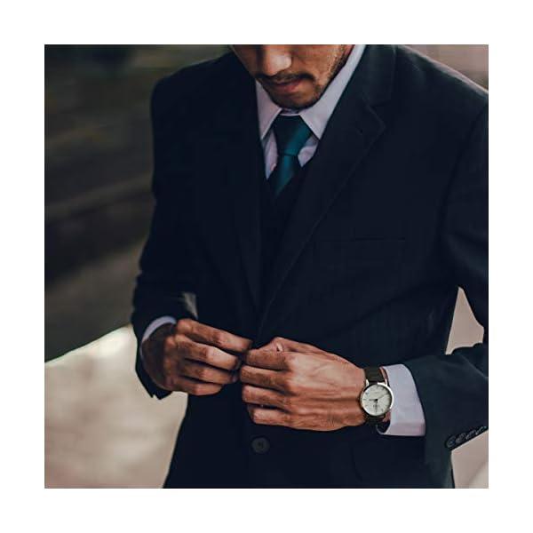 Fullmosa 4 Colores para Correa Metálica de Reloj de Liberación Rápida, Pulsera Reloj de Acero Inoxidable 14mm 16mm 18mm… 4