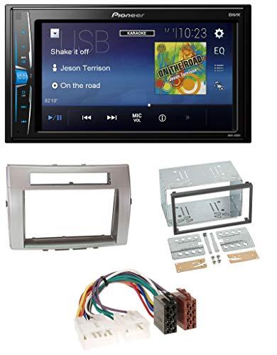 caraudio24 Pioneer MVH-A100V 2DIN MP3 USB AUX Autoradio für Toyota Corolla Verso 04-09 Silber -