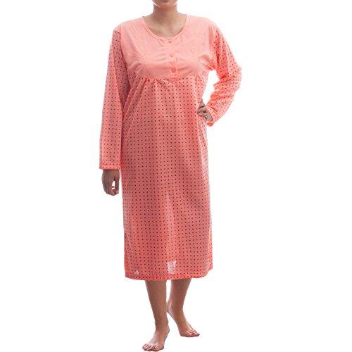 lucky-chemise-de-nuit-a-manches-longues-avec-punktchendessin-et-broderie-orange-large