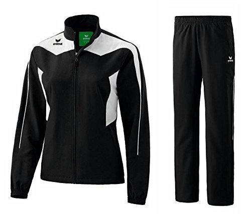 Erima Shooter Line Trainingsanzug Damen Präsentationsanzug Jogger Jogginganzug (44, Black/White)
