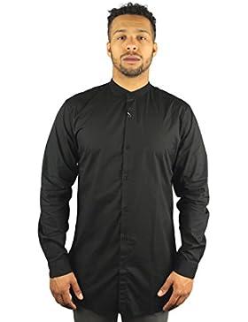 Lindbergh 30–29154Glo Herren Extra Lang Long Sleeve Shirt schwarz