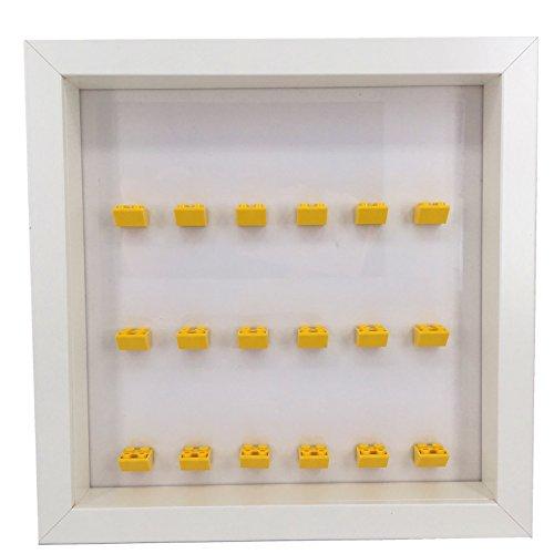 PapiMax Mini Figur Vitrine Weiß für Lego Mini Figur oder Lego Batman Film Minifiguren (Lego-mini-serie 6)