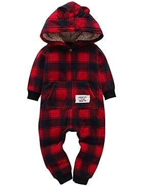 Omiky® Säuglings-Baby-Jungen-Mädchen-Dicker-Druck-Kapuzenpulli-Overall-Ausstattungs-Kind-Kleidung