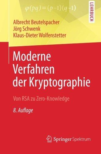 Portada del libro Moderne Verfahren der Kryptographie: Von RSA zu Zero-Knowledge (German Edition) by Albrecht Beutelspacher (2015-08-11)