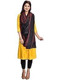 ab3b1d5bb6 SWI Stylish Women's Woven Shawl in Pure New Wool Fabric, Jamawar Pattern in  Staple Thread