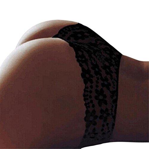 s, Neue Frauen Korsett Sexy Lace Floral Dessous Brief Unterwäsche Spitze Unterhose Sexy Unterwäsche Sexspielzeug Für Frauen (S, Schwarz) (Neue Paare Kostüme)