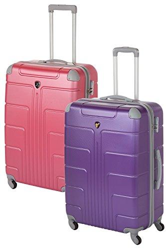 'Coque rigide Valises Couple Lot de 2 Pièces 2 x Taille XL Couleur, 75 cm, chaque 110 L de nombreuses couleurs Rose Violet/rose 2x Gr. XL